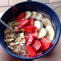 My host sister made me an acai bowl for breakfast!