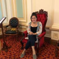 Sitting on the Queen's Chair in Parliament
