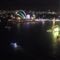 "The Sydney Opera House was lit up for the ""Vivid"" lights show"